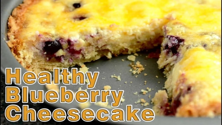 Healthy Blueberry Curd Cheesecake