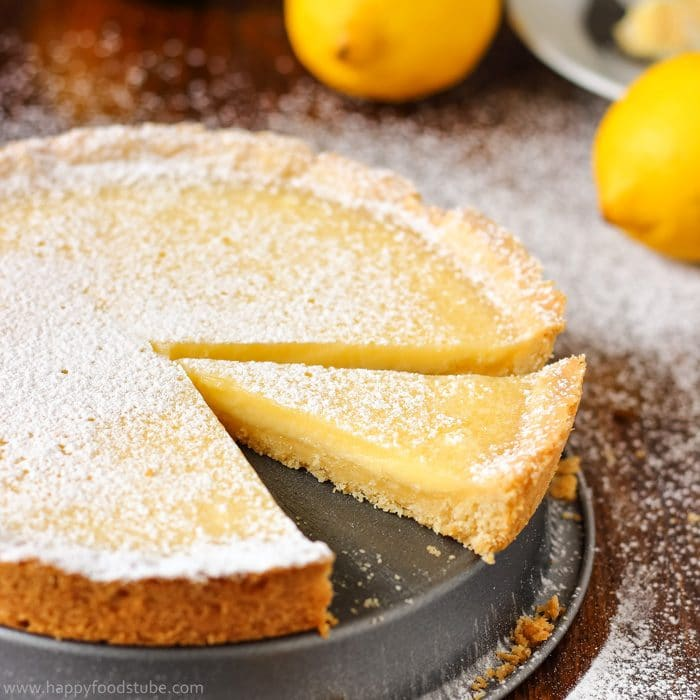 Simple Homemade Lemon Tart Image
