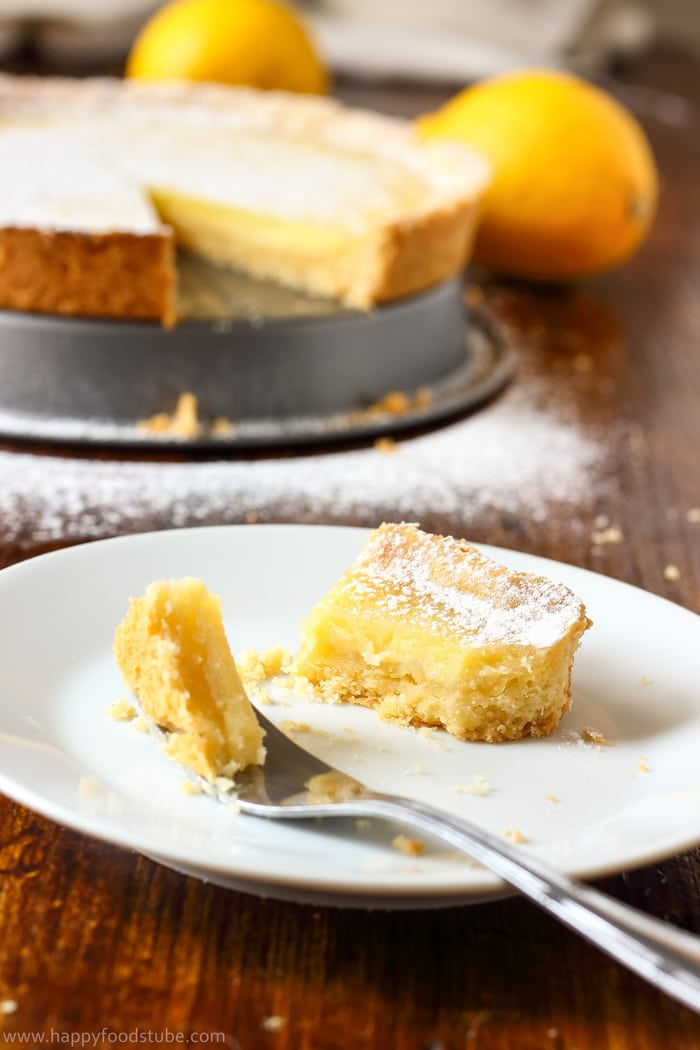 Simple Homemade Lemon Tart Photo