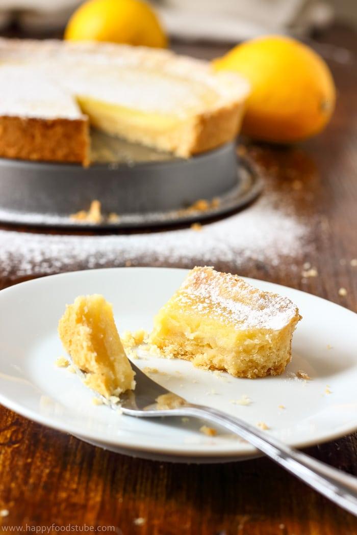 Simple Homemade Lemon Tart Photo