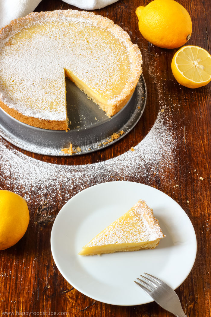 Simple Homemade Lemon Tart Pic