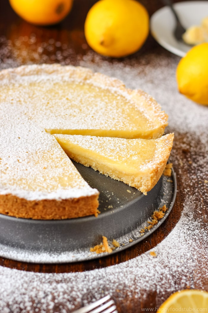 Simple Homemade Lemon Tart Recipe - Happy Foods Tube