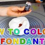 How to Colour Sugar Paste Fondant