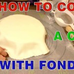 How to Cover Round Cake with Fondant Sugar Paste