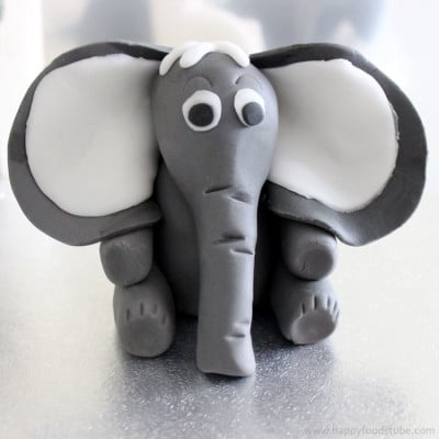 How to make a Sugar Paste Fondant Elephant Cake Topper