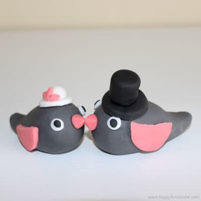 How to make Sugar Paste Fondant Love Birds Cake Topper