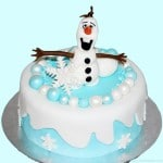 Frozen Snowman Olaf Fondant Icing Cake Topper