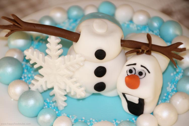 Frozen Olaf Cake Topper Tutorial | happyfoodstube.com