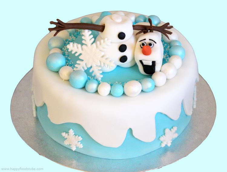 Frozen Olaf Cake Topper Tutorial Happyfoods Com