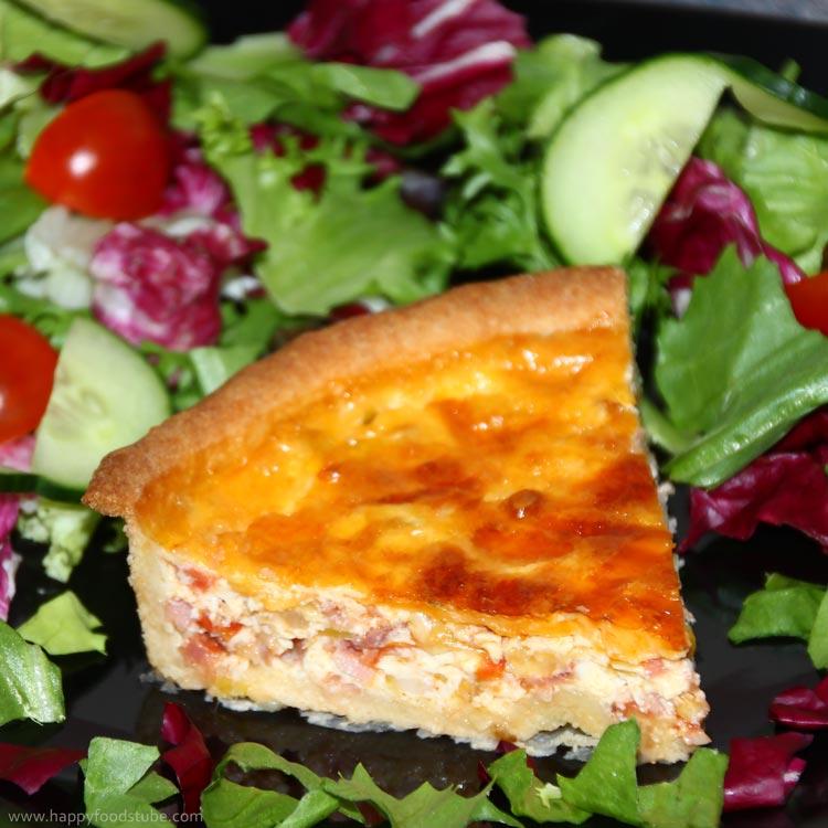 How to make quiche lorraine ham recipe happy foods tube forumfinder Choice Image