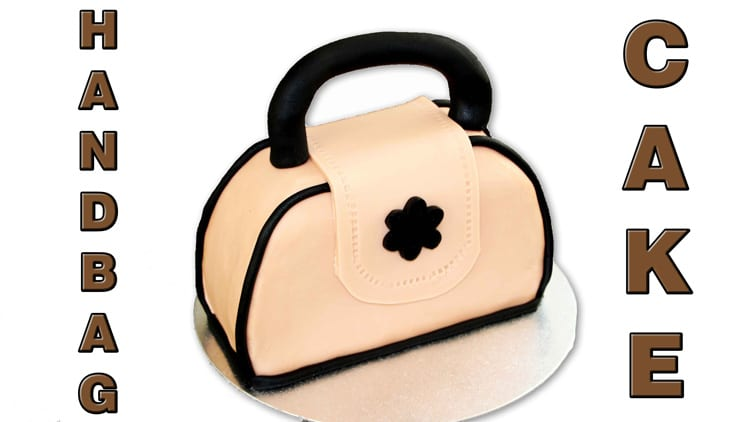 Handbag Cake Fondant Sugar Paste Tutorial
