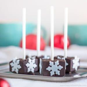 Homemade Hot Chocolate Sticks | happyfoodstube.com