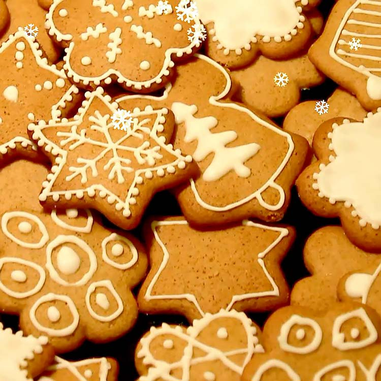 How to Decorate Christmas Cookies - Easy Level | happyfoodstube.com