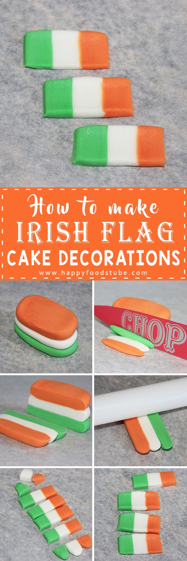How to make Irish Flag Cake Decorations Tutorial