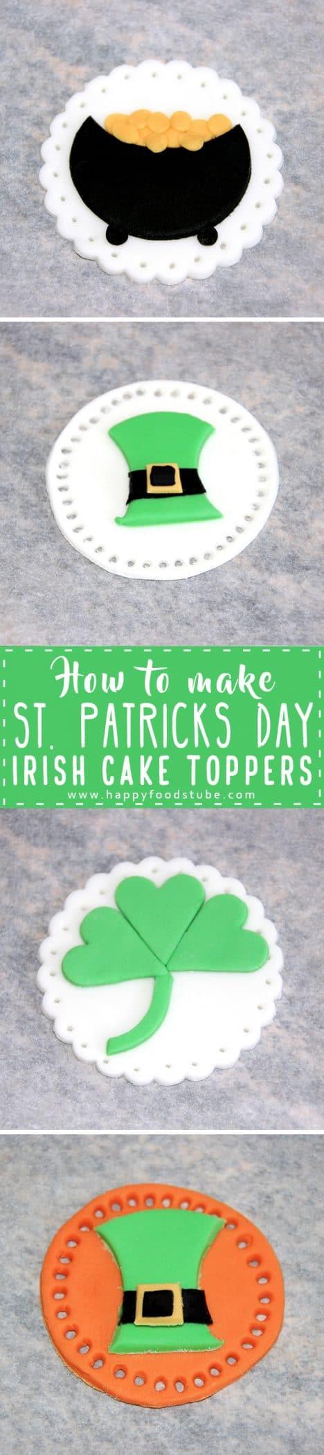 How to make St Patricks Day Irish Cake Toppers Tutorial
