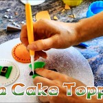 How to make St Patricks Day Irish Cake Toppers (Video)
