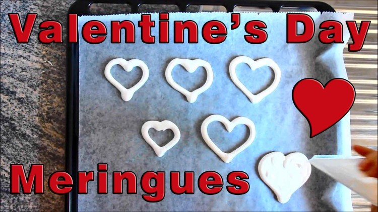 How to make Love Heart Meringues | happyfoodstube.com