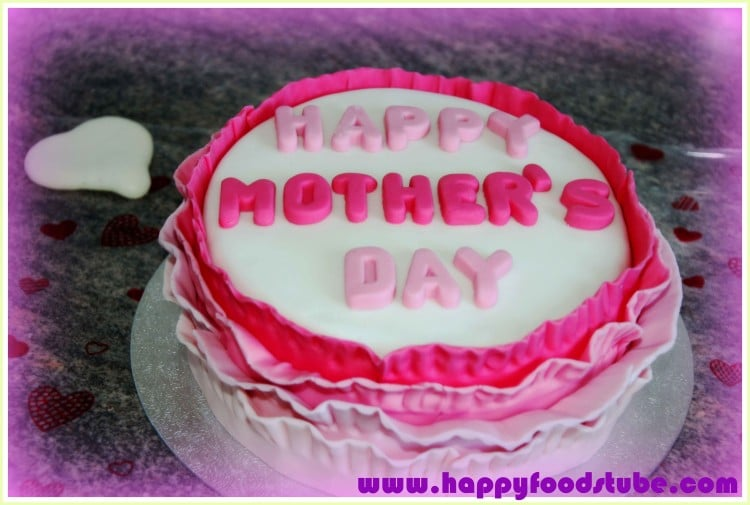 Mothers Day Ruffled Cake