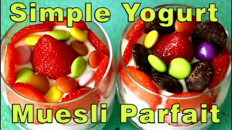 Homemade Simple Yogurt & Muesli Parfait