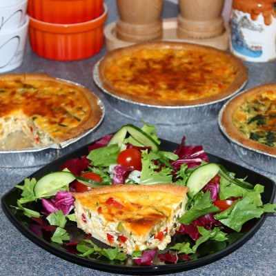 Roasted Vegetable Quiche {Video}