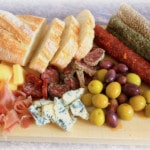 Cheese, Olives, Salami, Jamón Platter. Yummy!
