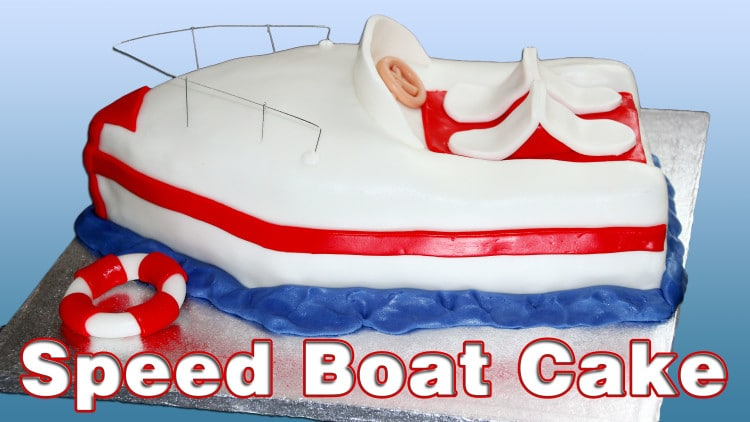 Speed Boat Cake Tutorial | happyfoodstube.com