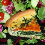 How to make a Spinach and Red Onion Quiche (Video)