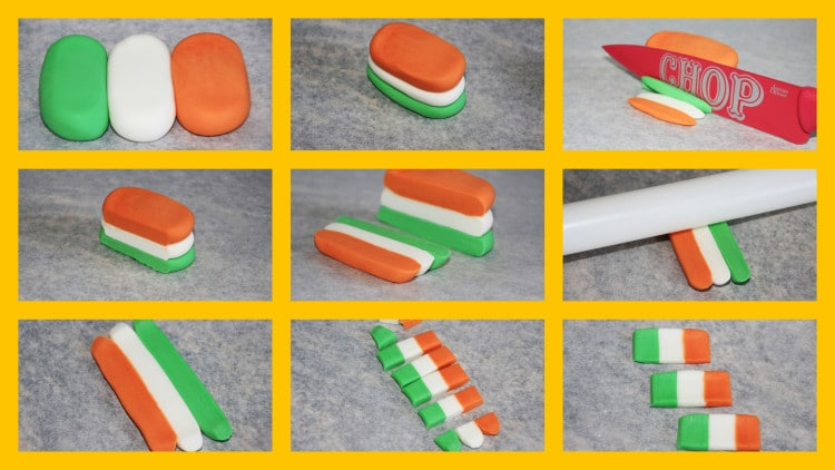 How to make Irish Flag Cake Decorations for St. Patrick's Day