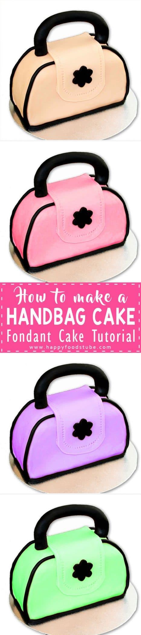 How to make a Handbag Cake Video   Happy Foods Tube