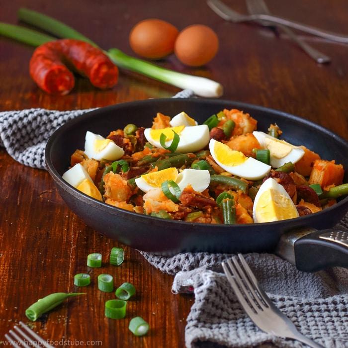 Spanish Chorizo Potato Salad Recipe - Happy Foods Tube-6912