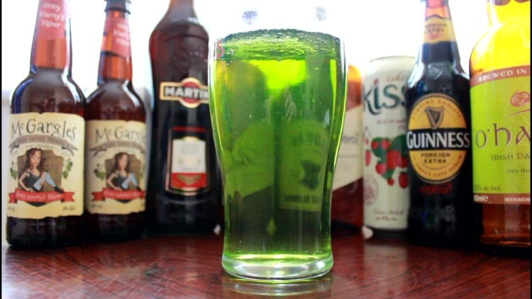 How to make St Patrick's Day Green Coloured Beer