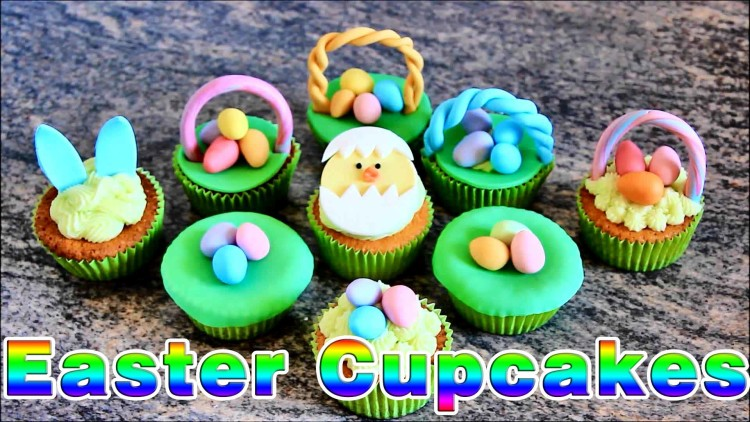 Easter Cupcake Toppers | happyfoodstube.com