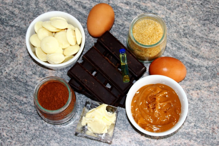 Flourless Dark Chocolate and Peanut Butter Brownies Ingredients
