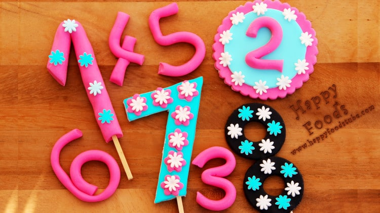 How to Make Fondant Numbers for Birthday Cake | happyfoodstube.com