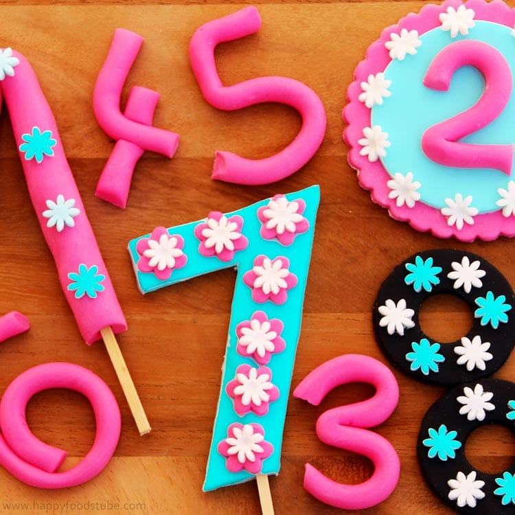 How To Make Fondant Numbers For Birthday Cake Happyfoods