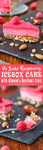 No Bake Raspberry Icebox Cake with Almond and Hazelnut Crust Recipe