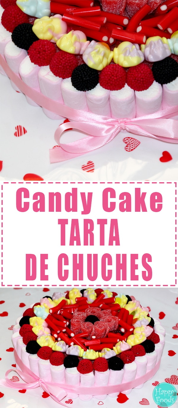 Candy Cake for Sweets Lovers or Tarta De Chuches - Popular jelly cake in Spain. | happyfoodstube.com