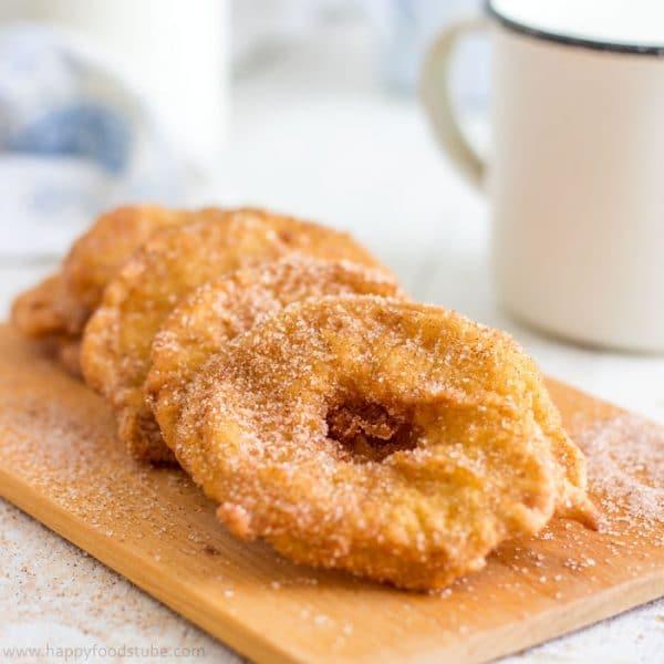 Fried Battered Apple Rings