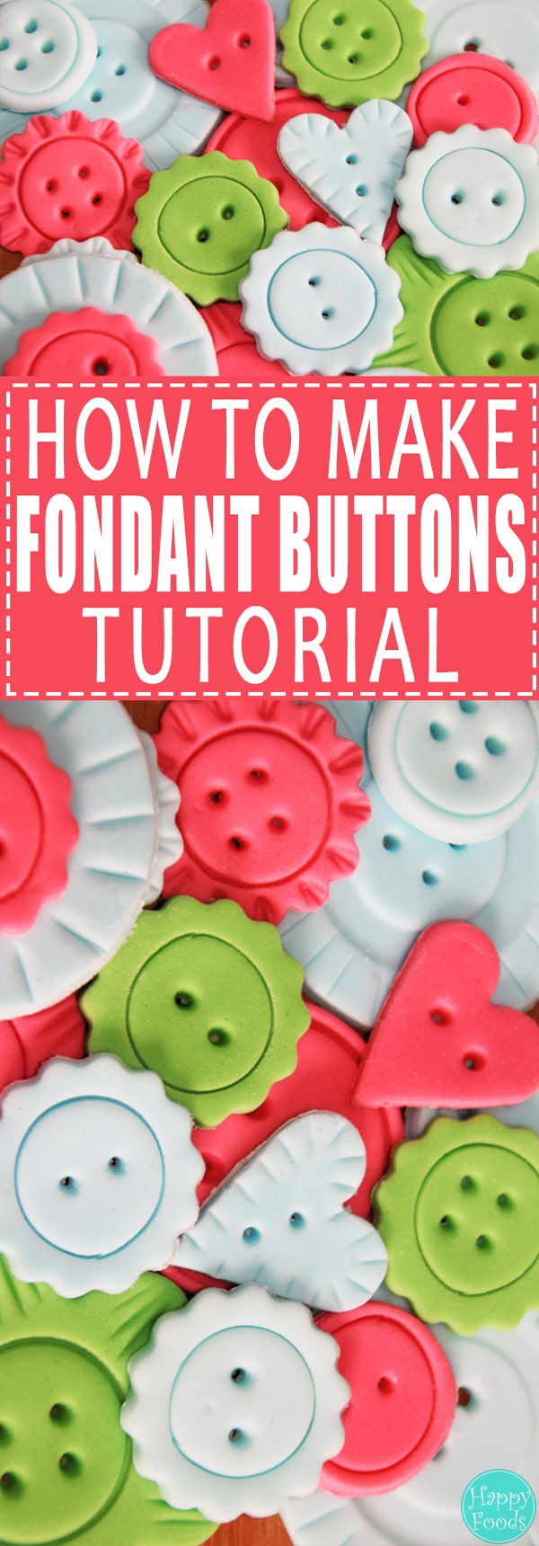 Learn how to make Fondant Buttons - Easy cake decorating video tutorial. Step by step instructions and all the tools what you need to make those cute buttons