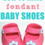 How To Make Fondant Baby Shoes - easy cake decorating tutorial video, baby shower, sugarcraft, sugar paste, fondant icing | happyfoodstube.com