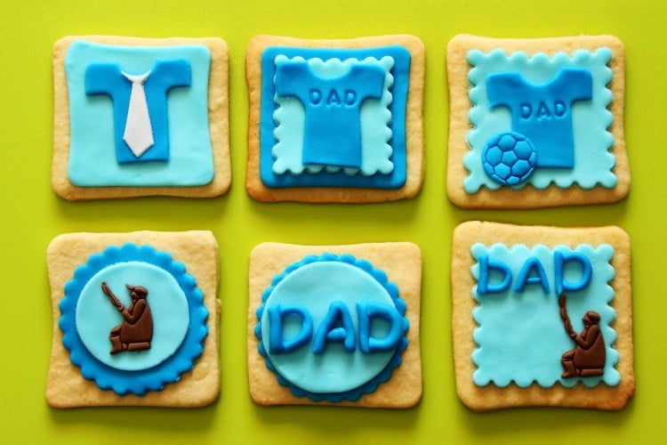 Father's Day Fondant Cake Toppers - | happyfoodstube.com