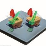 Strawberry-Caramel (Dulce de Leche) Dessert Shots