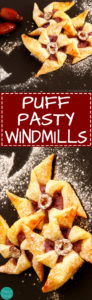 Puff Pastry Windmills - Easy bite-size dessert recipe. Great for any party! | happyfoodstube.com