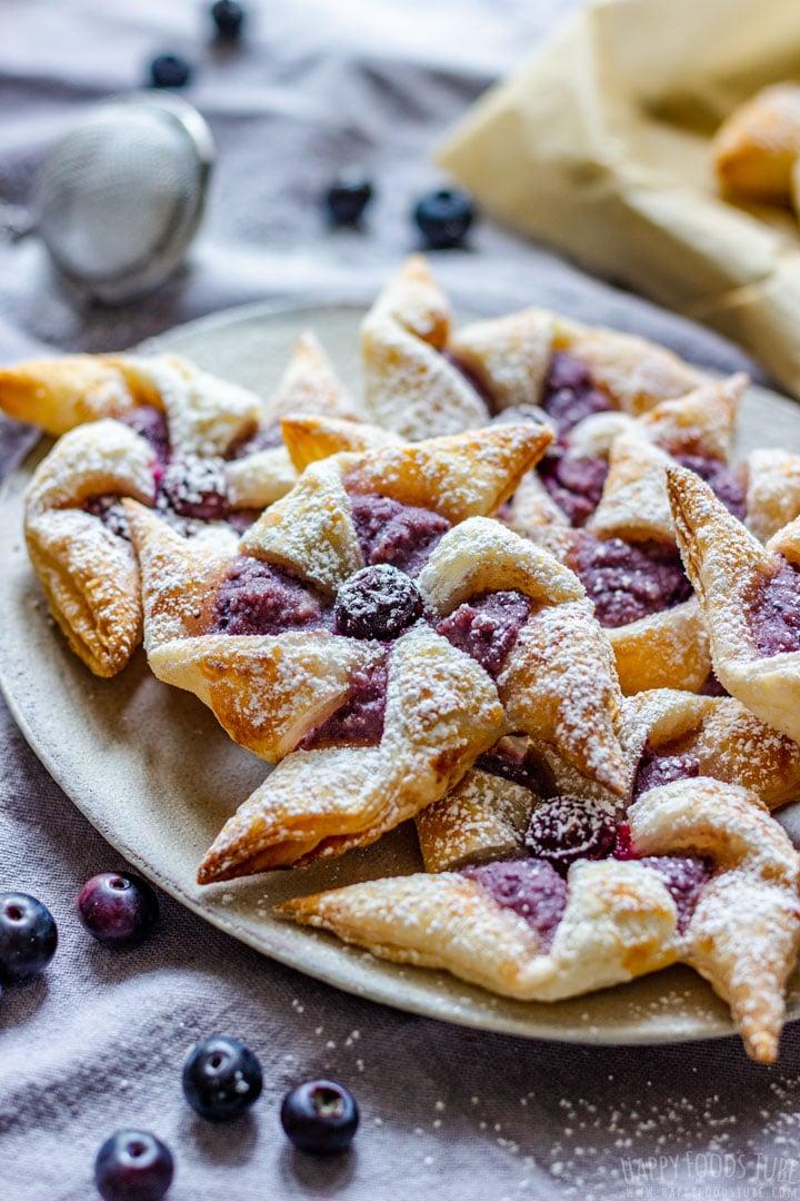Buttery Blueberry Danish Pinwheels