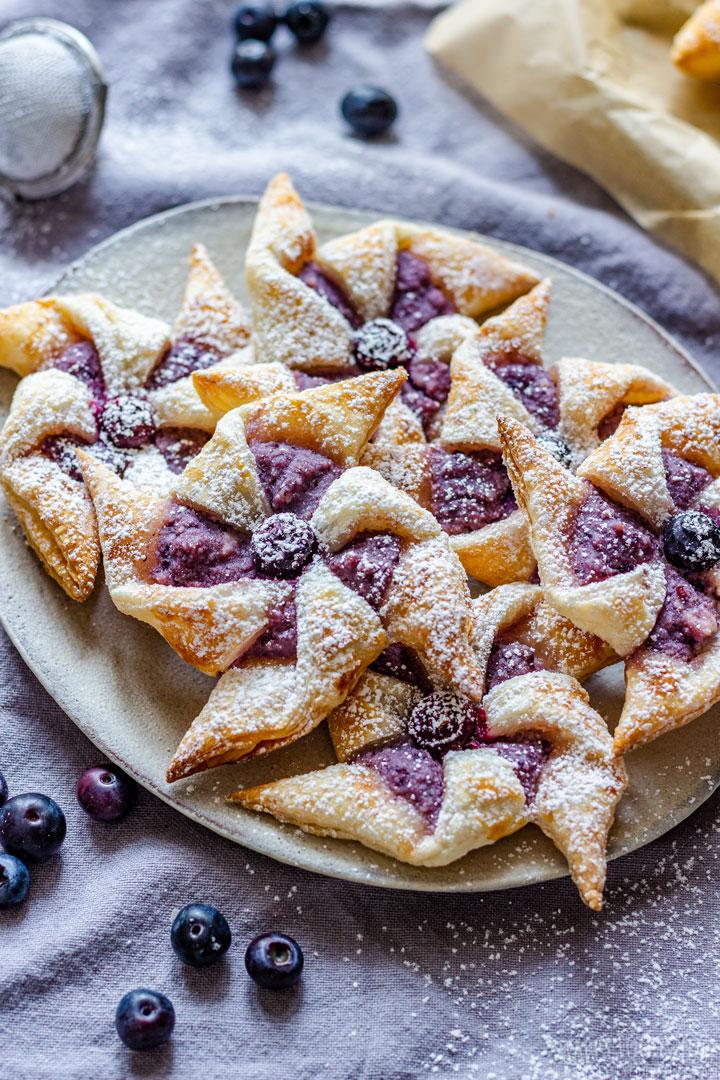 Homemade Blueberry Danish Pinwheels