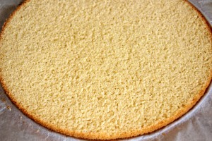 Basic Plain Sponge Cake Base | happyfoodstube.com