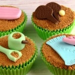 Beach Themed Fondant Cupcake/Cake Decorations