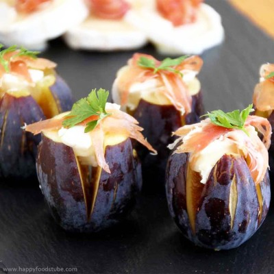 Figs with Goat's Cheese and Jamón