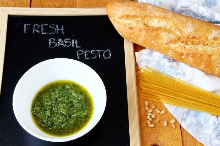 Homemade Fresh Basil Pesto