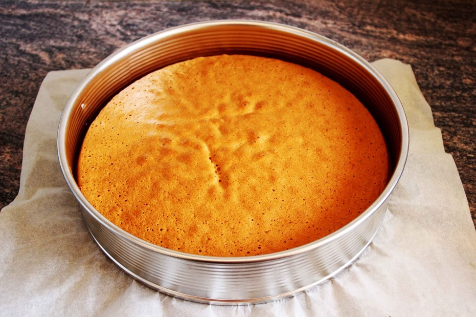 Sponge Cake With Sunflower Oil